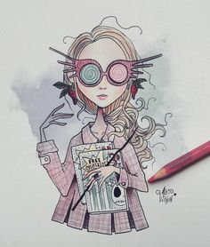 Drawing ideas harry potter luna lovegood 57 Best ideas Drawing ideas harry potter luna lovegood 57 B Tim Burton Art Style, Arte Tim Burton, Tim Burton Stil, Tim Burton Kunst, Arte Do Harry Potter, Harry Potter Drawings, Harry Potter Fandom, Luna Lovegood, Desenhos Tim Burton