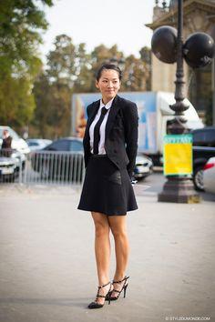 good suiting. #TinaLeung in Paris. #TinaLoves