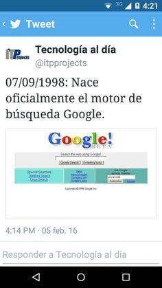 Fecha de nacimiento de google 07/09/1998 via ItProjects