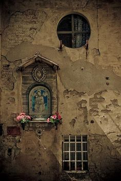 Windows and a lovely roadside altar ~ Siena, Italy, by Almira