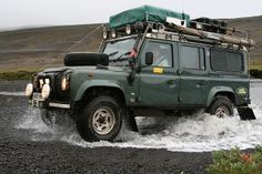 Land Rover Defender...it's like walking on water ( with wheels )