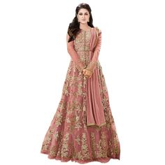 Drashti villa Women's Heavy Net Gown Embroidered Semi Stitched Anarkali Gown women gowns for girls latest collection (Free Size) Anarkali Gown, Anarkali Suits, Lehenga Choli, Pakistani Suits, Womens Dress Suits, Suits For Women, Net Gowns, Ethnic Gown, Indian Ethnic