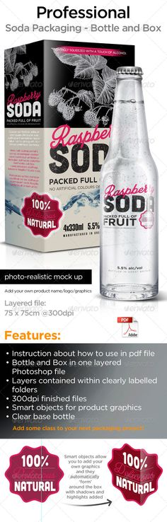 Bottle and Box Packaging  #GraphicRiver