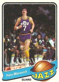 Basketball Card Values, Jazz Basketball, Nba, Pistol Pete, Utah Jazz, Trading Card Database, Sports Logo, New Orleans, Athlete