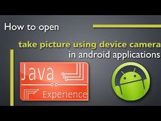 The #Camera API of #android can be used to launch native camera application to capture image and use it inside imageview.  https://www.youtube.com/watch?v=s7lo2wSE0zM