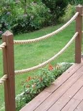 Image result for posts and rope
