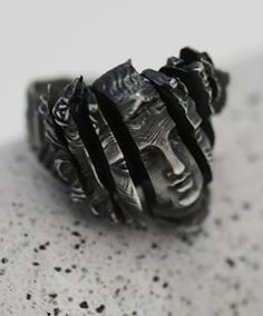 """JOY BONFIELD, FRAGMENTS RING: """"inspired by the progressive disfigurement of classical sculptures."""""""