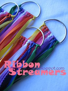 Nap Time Journal: Ribbon Streamers perfect for May Day