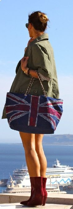 Chic In The City | Union Jack tote w/ crystals | Keep The Glamour ♡ ✤ LadyLuxury ✤