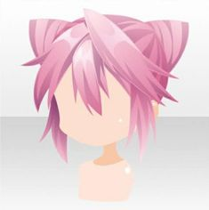 Devil Whisper Horn Buns Hair ver.A pink Hair Reference, Drawing Reference, Heart Braid, Chibi Hair, Sketch Poses, Cocoppa Play, Braids For Short Hair, Anime Hair, Head Accessories
