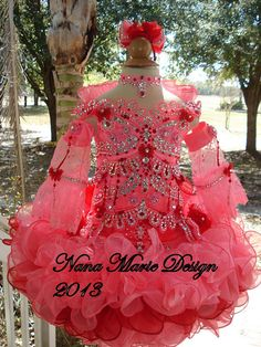 Custom High Glitz Pageant Dresses   National Glitz Pageant Dress Custom Order by by NanaMarieDesigns