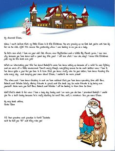 Letter From Santa Free Printable By On The Way Home  Christmas