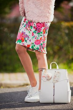 #pink #oasap #pastel #spring #girl #fashionblogger #newlook #comfy #sport #cute #inspiration #fashion #style #dress #floral #backpack