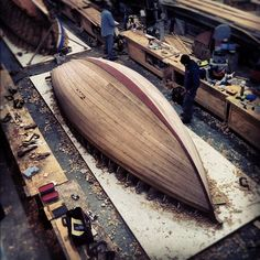 luck-of-lucien:  Planked! Nothing like finishing ahead of schedule. Now the fairing begins #boatbuilding #woodenboats #sailing #woodworking ...