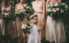 LAUREN + RYAN // #flowers #pink #green #white #foliage #bouquet #bridal #bridesmaids #flowergirl #flowercrown #hairpiece #wedding
