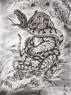 Snake tiger design