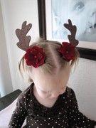 Rudolph hair clips