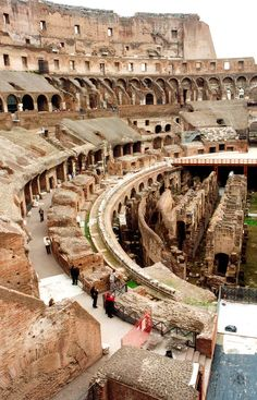 Rome, Italy - Colosseum ~ also known as the Flavian Amphitheatre located in Rome, Italy. Construction began in 70 AD.