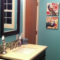 Get black mirror Peacock Shower Curtain, Peacock Bathroom, Peacock Print, Print Ideas, New Beds, Black Mirror, Bathroom Ideas, Bathrooms, Decor Ideas