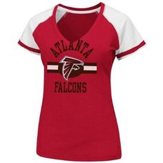 Women s Atlanta Falcons Go For Two II V-Neck Tee available at End Zone  Apparel 68e9ffae4