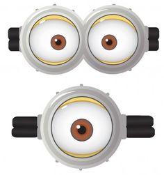 minion eyes template printable clipart library