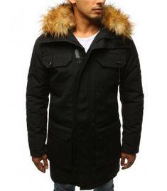 Čierna zimná pánska párka bunda Parka, Winter Jackets, Fashion, Winter Coats, Moda, Winter Vest Outfits, Fashion Styles, Fashion Illustrations, Parkas