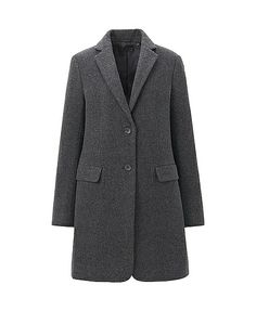 Discover the new selection of Coats & Jackets at UNIQLO online. New Outfits, Cool Outfits, Chesterfield Coat, Outerwear Women, Wool Coat, Vest Jacket, Uniqlo, My Wardrobe, Coats For Women