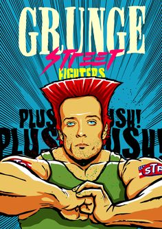 Scott Weiland (Stone Temple Pilots) as Guile Scott Weiland, Grunge, Street Fighter Characters, Stone Temple Pilots, Cool Pops, Rock Posters, Music Posters, Rage Against The Machine, Video Game Characters