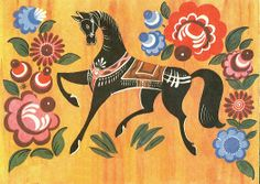 Gorodetz-Russian folk painting