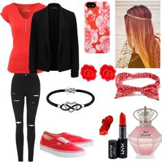 Sexy red outfit idea