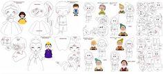 Branca de neve e os sete anões  - Como Fazer Felt Doll Patterns, Felt Animal Patterns, Stuffed Animal Patterns, Felt Templates, Polymer Clay Dolls, Sewing Dolls, Busy Book, Felt Toys, Felt Art