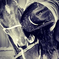 She loves her horse! (It's reciprocal). :) #horse #lifeoutwest #cowgirl