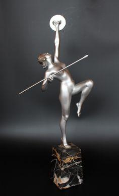 Art Deco figure by Fugere, ca.1930.