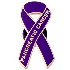 Raise awareness for pancreatic cancer with this PANCREATIC CANCER ribbon pin.