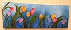Acrylic Flower Painting by SarahKKreations on Etsy
