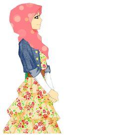 Hijab ilustration, owh nice like this Muslim Girls, Muslim Women, Hijab Anime, Hijab Drawing, Islamic Cartoon, Hijab Cartoon, Hijabi Girl, Muslim Hijab, Fashion Design Sketches