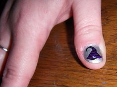 Pin for Later: 25 Cute and Creepy Nail Art Ideas For Halloween  Get out your broomstick and bring out your inner witch with this manicure. Source: Flickr user borispumps