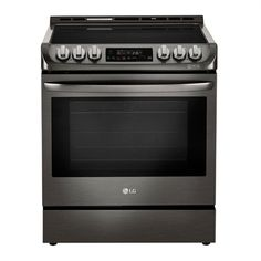 Shop LG Appliances LG 5 element cu ft Slide In Electric Range with Self-cleaning Convection Oven Black Stainless Steel at Lowe's Canada. Find our selection of ranges at the lowest price guaranteed with price match. Electric Cooker, Electric Oven, Slide In Range, Convection Cooking, Single Oven, Oven Cleaning, Oven Range, Heating Element, Black Stainless Steel