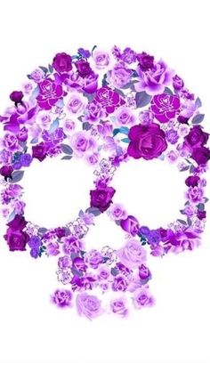 Floral skull iphone wallpaper