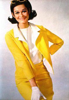Model by:Givenchy.German Magazine:Burda International.Spring/Summer 1967.