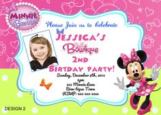partyexpressinvitations - Minnie Mouse Bow-tique Birthday Invitation, $8.99 (http://www.partyexpressinvitations.com/minnie-mouse-bow-tique-birthday-invitation/)