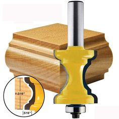 Buy Shank Bullnose Bead Column Face Molding Router Bit Woodworking Tool at Wish - Shopping Made Fun Woodworking Router Bits, Essential Woodworking Tools, Antique Woodworking Tools, Woodworking Equipment, Learn Woodworking, Popular Woodworking, Woodworking Techniques, Woodworking Furniture, Woodworking Projects