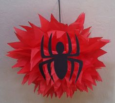 SpiderMan Pompom by AnnasParties on Etsy - Visit to grab an amazing super hero shirt now on sale! Avengers Birthday, Superhero Birthday Party, 4th Birthday Parties, Man Birthday, Birthday Party Decorations, Spiderman Theme, Party Time, Avenger Party, Birthdays