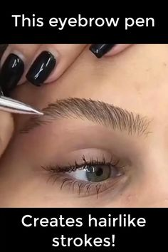 Makes hair-like strokes for a natural appearance. Fuller brows instantly! Easy to use. Goes with any make up look! Fix Eyebrows, How To Make Eyebrows, Eye Make Up, Blonde Eyebrows, Drawing Eyebrows, Thicker Eyebrows, Plucking Eyebrows, How To Shape Eyebrows For Beginners, How To Make Up