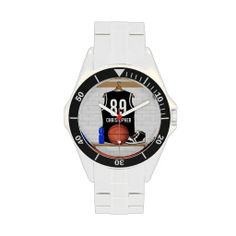 Personalized Black Basketball Jersey Wristwatches