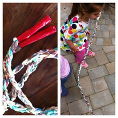 Get Moving Junior Journey.  Jump rope from plastic bags