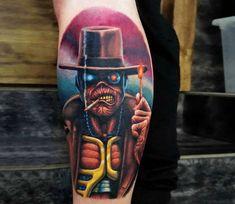 Iron Maiden 'somewhere in time tour flyer' tattoo  |Iron Maiden Somewhere In Time Tattoo