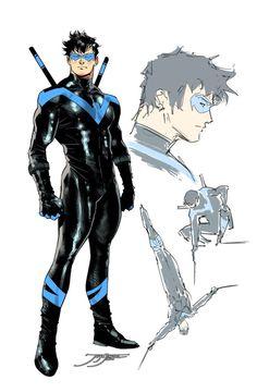 Comic Book Artists, Comic Books Art, Comic Art, Nightwing, Batgirl, Comic Character, Character Design, Arte Dc Comics, Fanart