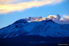 Mt. ETNA (with first snows) @ sunset..