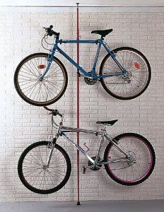 2 Bike Stand Floor To Ceiling Telescopic Pole Bike Stand Bike Storage Ceiling Storage Rack